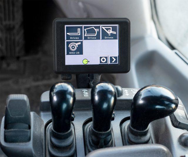 Styrsystemet ExciControl MH för Drivex redskap